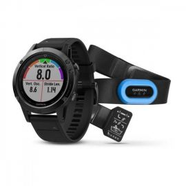 Reloj Smartwatch Garmin Fenix 5 Cristal de Zafiro Bundle - Negro