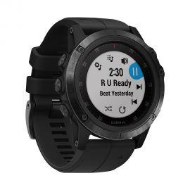 Relógio Smartwatch Garmin Fenix 5X Plus - Preto + Pulseira Quickfit 26 - Azul