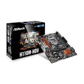 PLACA MÃE ASROCK H110M-HDV 1151 V/S/R/DVI/HDMI/DDR