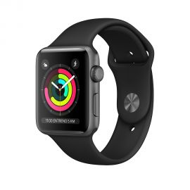 Apple Watch S3 caja de aluminio en gris espacial y correa deportiva en color gris espacial 42 mm - MTF32LL/A