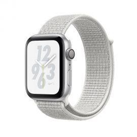 Apple Watch S4 Nike + caja de aluminio en plata y correa loop deportiva en color plata 44 mm - MU7H2LL/A