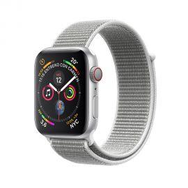 Apple Watch S4 (GPS + cellular caixa de alumínio em prata e correia loop esportiva em cor prata 44 mm - MTVT2BZ/A