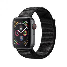 Apple Watch S4 (GPS + cellular caja de aluminio en gris espacial y correa loop deportiva en color negro 44 mm - MTVV2BZ/A