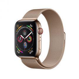 Apple Watch S4 (GPS + cellular caixa de alumínio em dourado e correia Milanês em cor dourado 40 mm - MTVQ2BZ/A