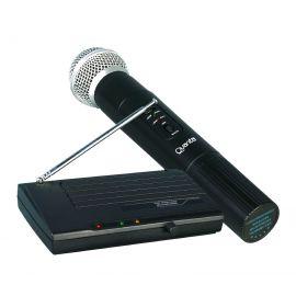 Microfone Quanta QTMIC102 Sem Fio Bivolt - Preto
