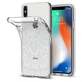 Estojo Protetor Spigen Liquid para iPhone X/Xs - Transparente