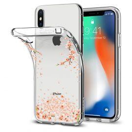 Estojo Protetor Spigen Liquid Crystal Blossom para iPhone X/Xs - Transparente