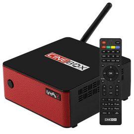 Receptor FTA Cinebox Fantasia Z HD Wifi - Preto/Vermelho