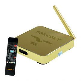 Receptor FTA Freesky IPTV Ultra HD 6K - Dourado
