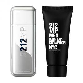 Kit Perfume Carolina Herrera 212 VIP Men EDT 100 ml + Gel - Masculino
