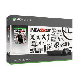 Consola Xbox One X 1 TB Bivolt - Negro + Juego NBA 2K19
