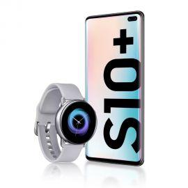 Celular Samsung Galaxy S10+(Plus) SM-G975F Dual 128 GB - Negro Prisma + Memoria de 128 GB + Watch Active SM-R500