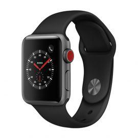 Apple Watch Serie 3 Caja de aluminio en gris y correa deportiva en color negro
