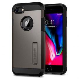 Estojo Protetor Spigen Tough Armor 2 para iPhone 7/8 - Cinza