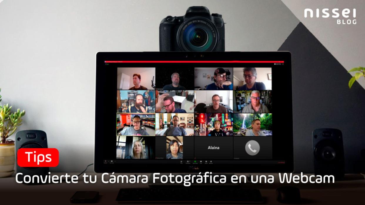 Te mostramos cómo Convertir tu cámara fotográfica en una webcam